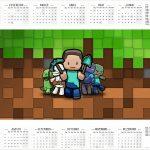Calendario 2017 Minecraft