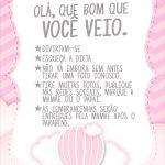 Cartao Agradecimento Quadro Balão de Ar Quente Rosa Kit Festa