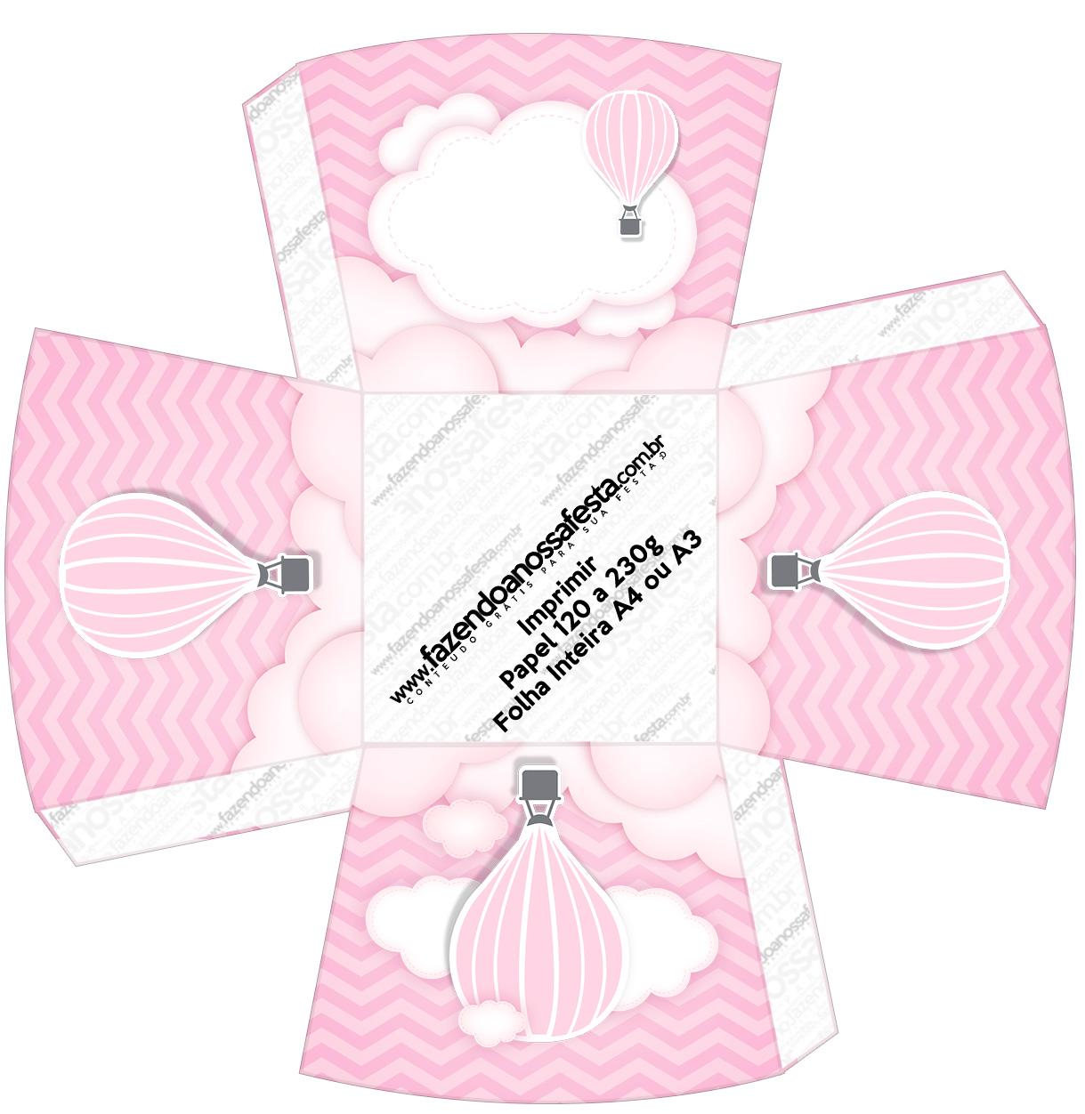 Chachepot Balão de Ar Quente Rosa