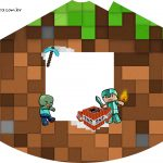 Chapeuzinho de Festa Minecraft