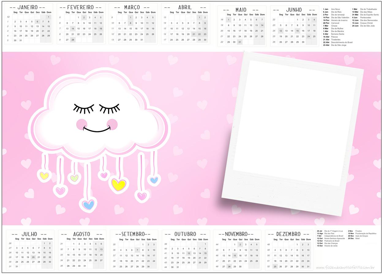 Convite Calendario 2017 Chuva de Amor
