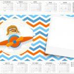 Convite Calendario 2017 Menino Aviador