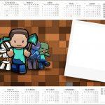 Convite Calendario 2017 Minecraft