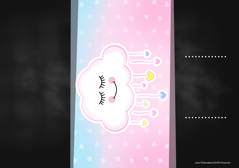 Convite Chalkboard Chuva de Amor 2