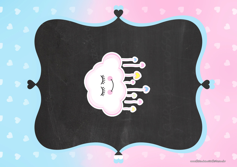 Convite Chalkboard Chuva de Amor 4