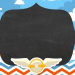 Convite Chalkboard Menino Aviador
