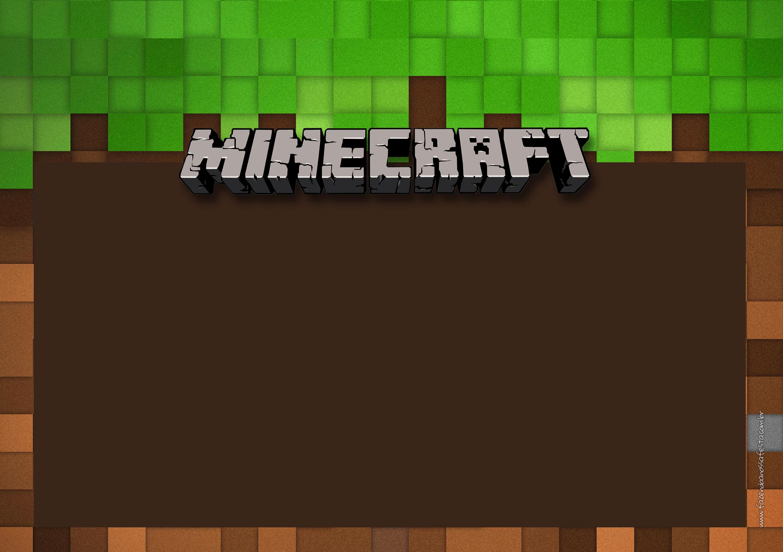 Convite Chalkboard Minecraft 2