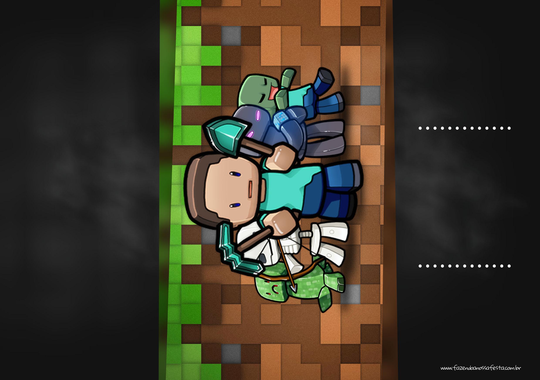 Convite Chalkboard Minecraft 3