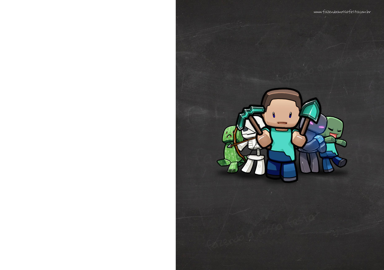 Convite Chalkboard Minecraft 4
