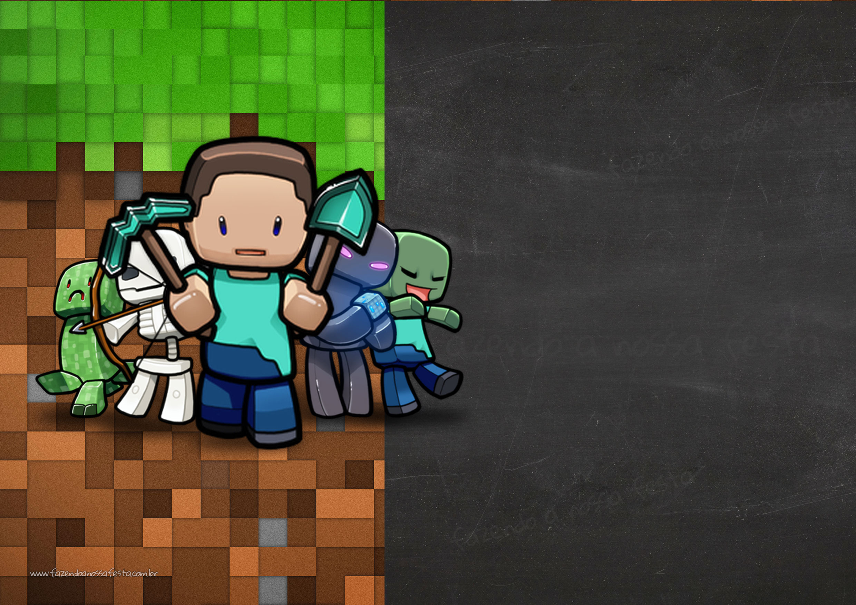 Convite Chalkboard Minecraft 5
