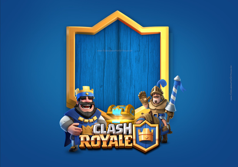 Convite Clash Royale 3