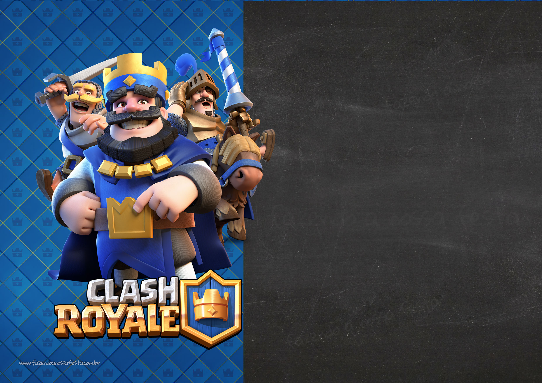 Convite Clash Royale Chalkboard