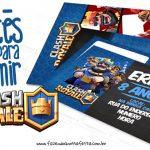 Convite Clash Royale Grátis para Imprimir em Casa