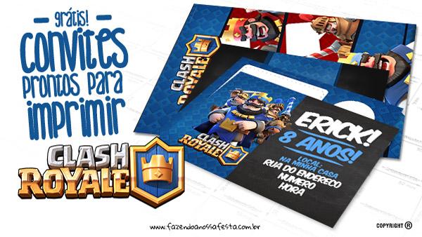 Convite Clash Royale Fazendo a Nossa Festa