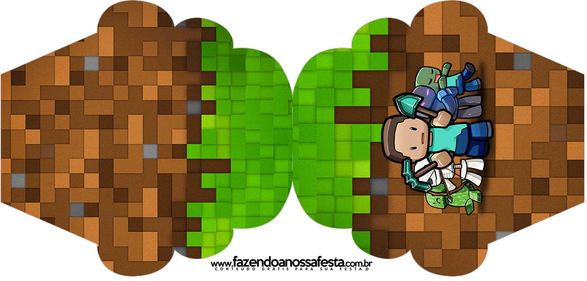 Convite Cupcake Minecraft