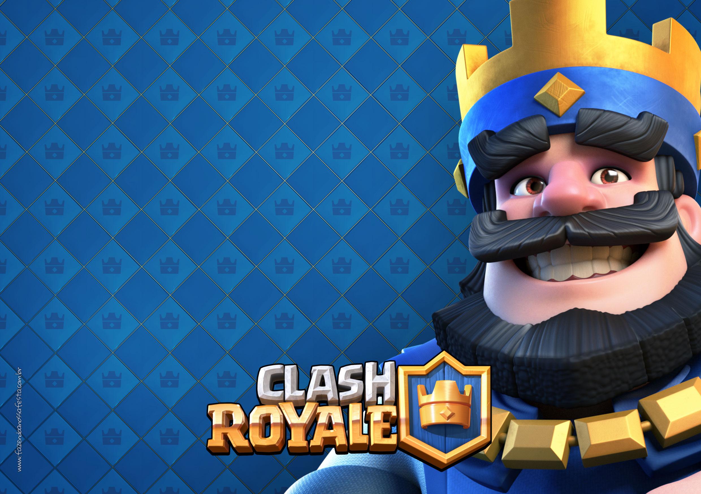 Convite Festa Clash Royale