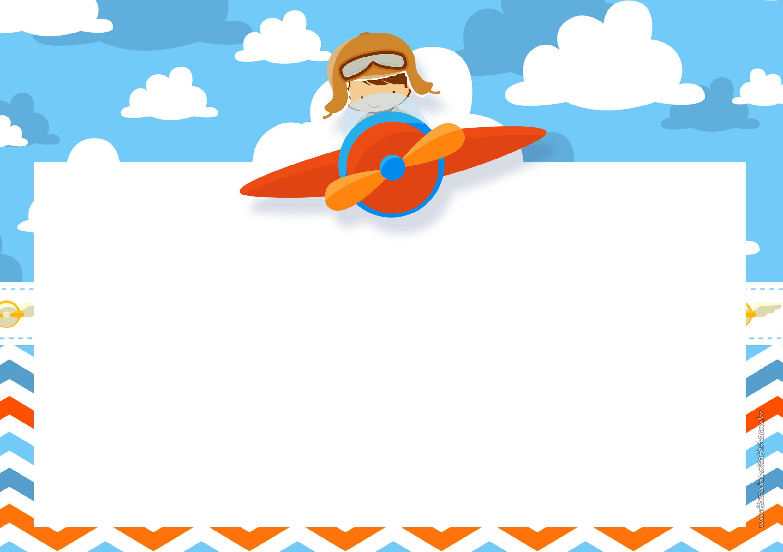 Convite Menino Aviador 2