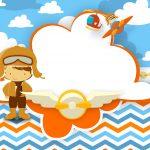Convite Menino Aviador 6