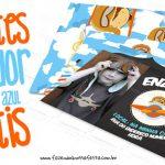 Convite Menino Aviador Grátis para Imprimir em Casa