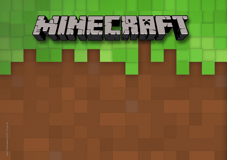 Letras Minegraft Fazendo A Nossa Festa: Convite Festa Minecraft 2