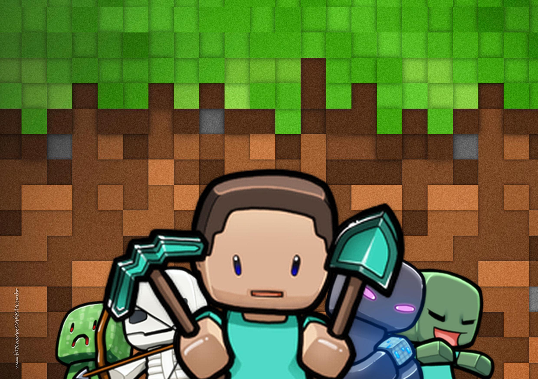 Convite para Festa Minecraft 4