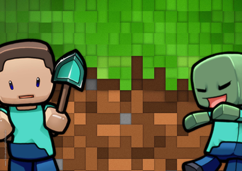 Convite Minecraft 5