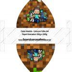 Convite Vestido 83 Minecraft