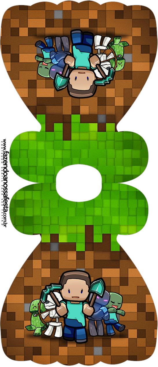 Convite Vestido Minecraft
