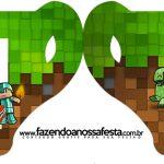 Convite Xicara Minecraft