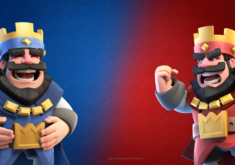 Convite para Festa Clash Royale