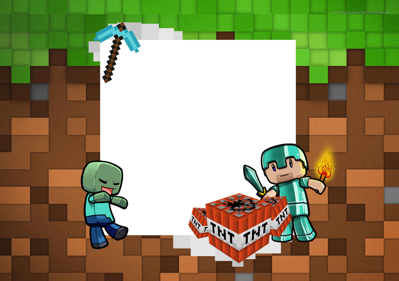 Convite Minecraft 9