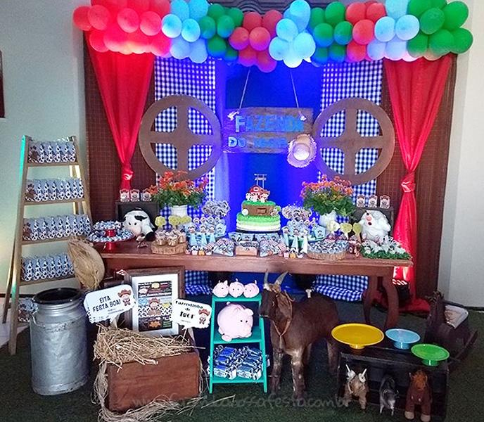 Decoração Festa Fazendinha do Igor