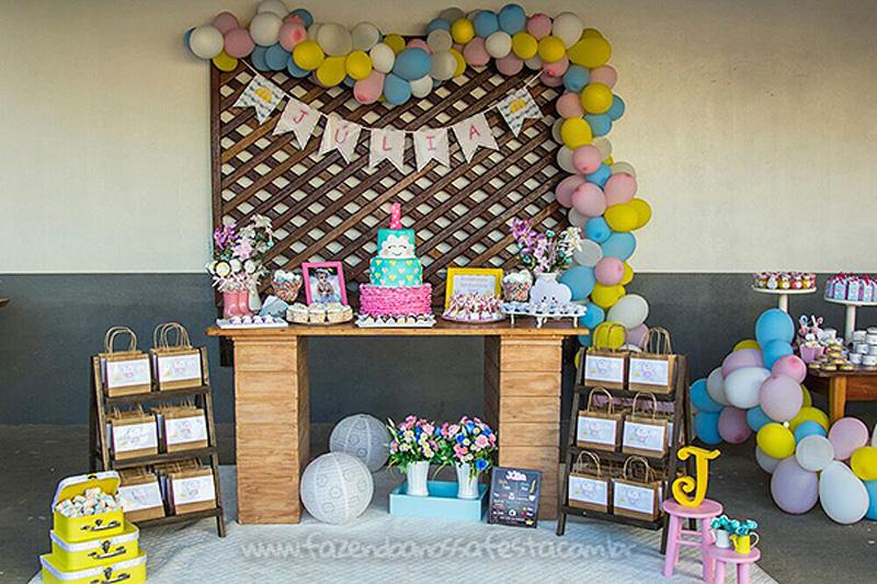 Decoração Festa Infantil Chuva de Bênçãos da Julia
