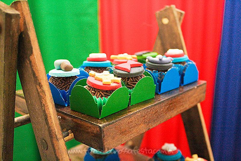 Doces decorados Festa Vingadores Cute do Joao Henrique