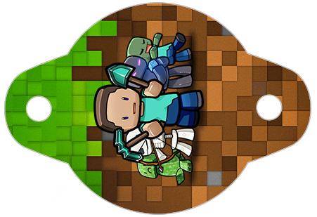 Enfeite Canudinho Minecraft