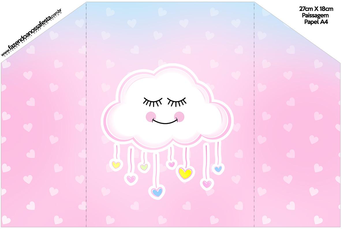Envelope Convite Chuva de Amor