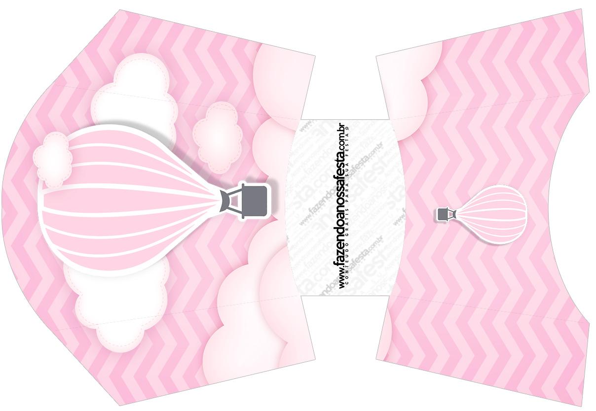 Envelope Fritas Balão de Ar Quente Rosa
