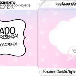 Envelope do Cartão Agradecimento Chuva de Amor