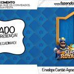 Envelope do Cartão Agradecimento Clash Royale