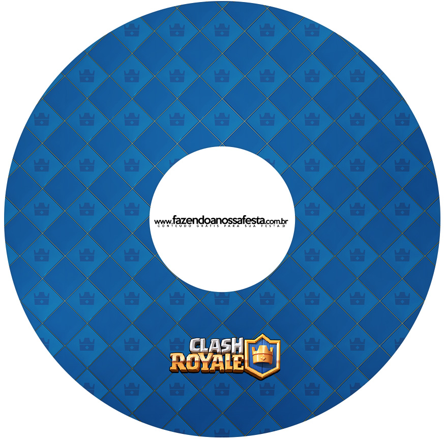 Etiqueta CD DVD Clash Royale