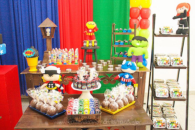 Festa Vingadores Cute do João Henrique 15