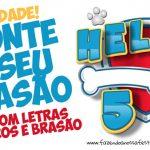Kit Brasão Patrulha Canina Monte o Seu Grátis para Imprimir