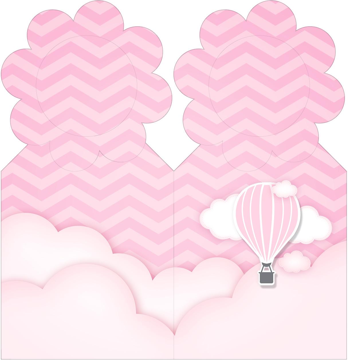 Marcador de Paginas Balão de Ar Quente Rosa