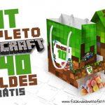 Minecraft Kit Festa Totalmente Grátis Imprima em Casa