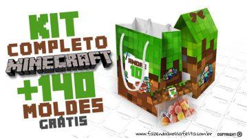 Minecraft Kit Festa Grátis