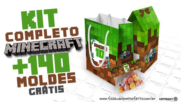 Minecraft Kit Festa Totalmente Gratis Imprima Em Casa