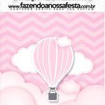 Mini Pastilha Docile Balão de Ar Quente Rosa