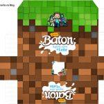 Molde Caixa Baton Minecraft