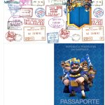 Molde Passaporte Clash Royale Kit Festa