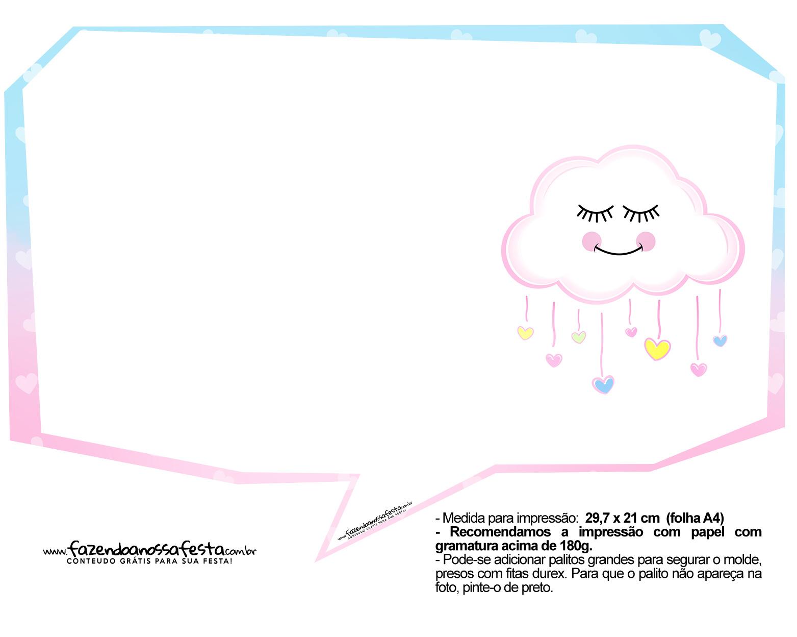 Plaquinha divertida Chuva de Amor 33